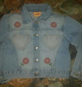 Джинсовый пиджак на девочку (4-6лет)