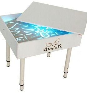 Стол для рисования песком с ножками 500х600мм.