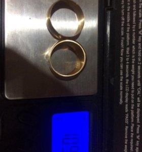 2 кольца , золото советское