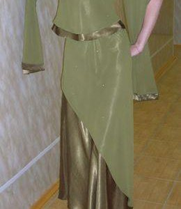 Вечернее платье-комплект в пол