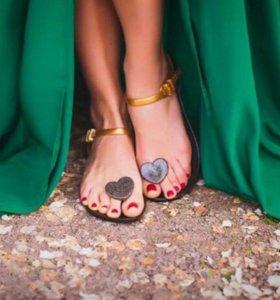 Сандали новые (звездочки) летняя обувь