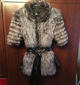 Куртка шубка с чернобуркой