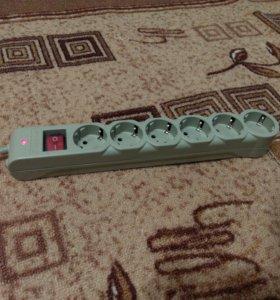 Сетевой фильтр Defender DFS 603, 6 розеток, 3м