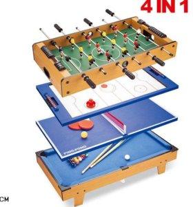 Игра настольная Partida Игровой стол 4 в 1 82