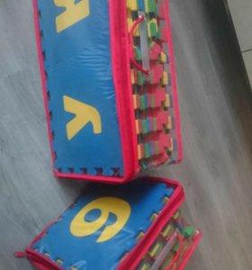Коврик пазлы цифры + буквы