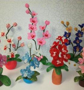 Цветы из бисера. Сувениры, подарки ручной работы.