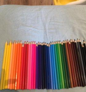 Цветные карандаши 44 шт