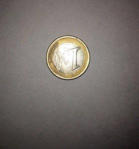 коллекционная монета 1 euro
