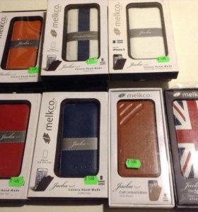 Чехол кожаный Melkco на iPhone 5/5S/SE