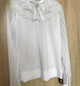 Новая блузка школьная, р.146