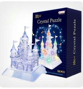 Кристальный пазл ледяной Замок деда Мороза новый