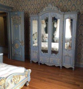 Интерьерные декоры и мебель из массива дерева