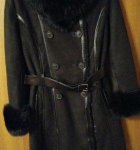 Пальто-Дубленка женская зимняя