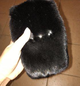 Чехол для телефона норковый Blackglama