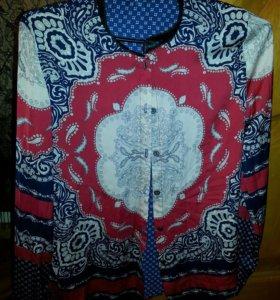 Блузки-рубашки шёлк