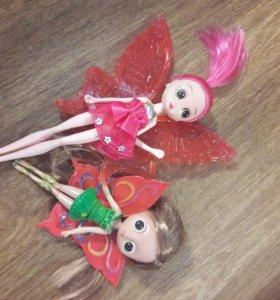феи, бабочки, девочки с крыльями