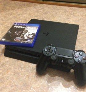 PlayStation 4 Slim в отличном состоянии