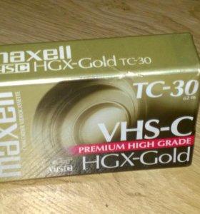 ВИДЕОКАССЕТА maxell VHS-C HGX-GOLD TC-30