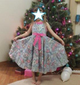 Платье нарядное хлопкое