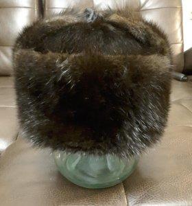 Зимняя мужская шапка андатровая 58
