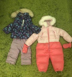 2 зимних костюма на 86см