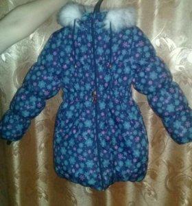 НОВАЯ Зимняя рост 140 куртка!