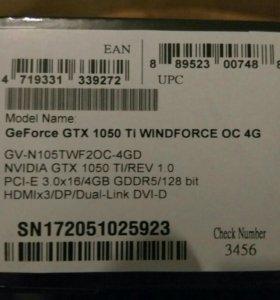 Видеокарта Gtx 1050ti 4 gb
