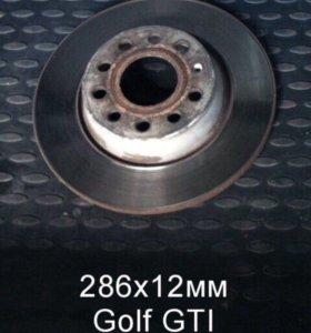 Задние тормозные диски VW golf 6 gti