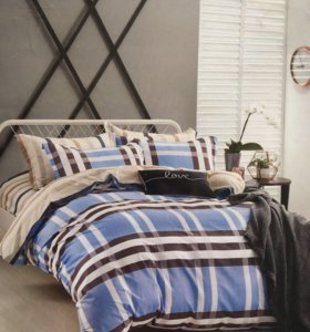 Двуспальное постельное белье. Сатин Де Люкс