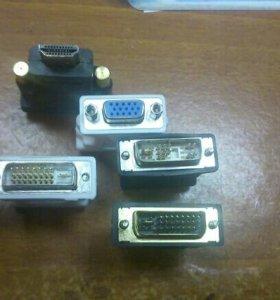 Переходники для видеокарты DVI-i, DVI-D на VGA
