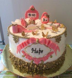 Детские торты и фигурки из мастики
