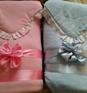Комплект на выписку велюр (одеяло синтепон).