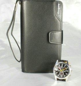Оригинальное портмоне Baellerry Business + Часы