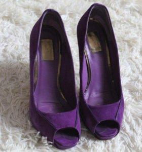 Замшевые туфли topshop