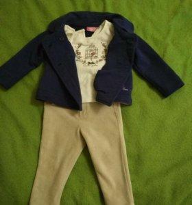 Вельветовые штаны, пиджак и футболка