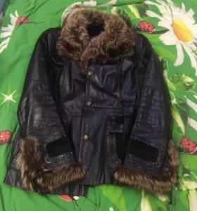 Куртка осень-зима(натур кожа)