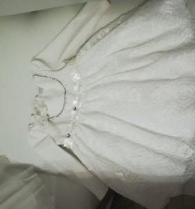 Новогоднее платье для маленькой снежинки