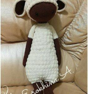 Плюшевая овечка Лупо, вязаные игрушки, амигуруми