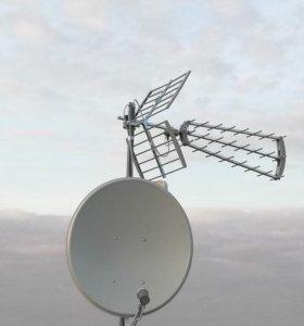 Установка ТВ антенн
