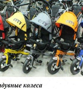 велосипед детский трехколесный City Радуга ассорти