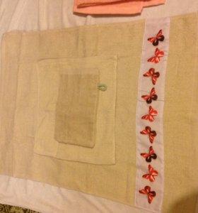 Комплект полотенец с рукавичками