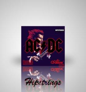 """Струны для акустической гитары:"""" AC/DC"""""""