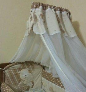 Балдахин для детской кроватки и держатель