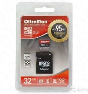 OltraMax microsd Class 10 UHS-1 U3 95MB/s 32GB +SD