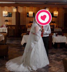💝Шикарное свадебное платье+аксессуары