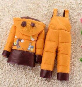 Куртка+комбинезон зимний новый