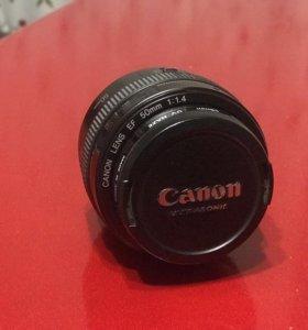 Объектив canon 50mm 1:1.4