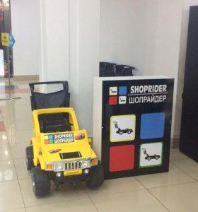 Продам действующий прокат машинок-тележек в ТРЦ