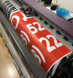 Печать банеров визиток широкоформатная печать