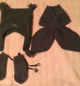 Шапки/шарфы/варежки/перчатки на 1,5-2,5 года